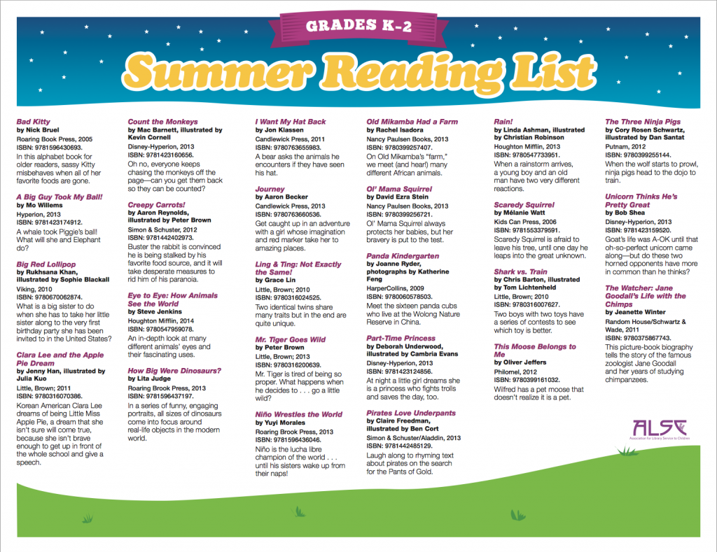 SummerReadingListK-2